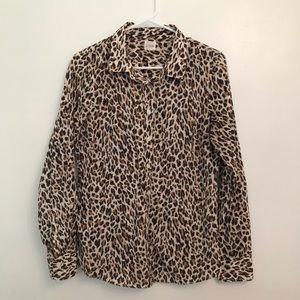 J. Crew Leopard Shirt M